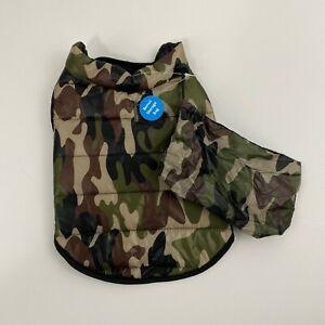 Top Paw Camo Rain Puffer Dog Jacket Coat New
