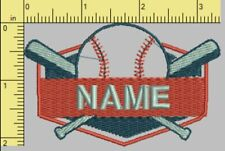 Embroidered baseball patch (Your Name) iron on/sew on