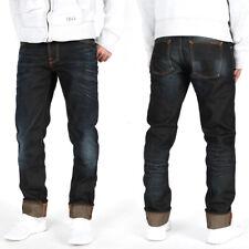 Nudie Herren Regular Tapered Fit Bio Denim Jeans Hose | Big Bengt Night Thunder