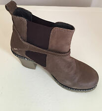 WOMENS LADIES RIVERISLAND  LEATHER BROWN  ANKLE BOOTS SIZE UK  6