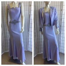 Cameron Blake By Mon Cheri Woman Violet Cocktail Dress 2 Pieces New Size 6