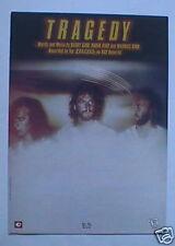 Bee Gees Original Sheet Music Tragedy