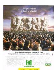 PUBLICITE ADVERTISING  1989   MUTUELLES DU MANS assurances