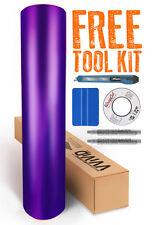 VVIVID8 purple chrome satin matte car wrap vinyl 50ft x5ft conform + free tools
