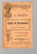 g donizetti - linda di chamoumix - edizione ricordi