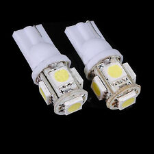 2*T10 194/168 W5W 5 SMD 5050 White LED Car Wedge Tail Side Light Waterproof HO