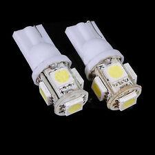2 PCS T10 0.5W 30lm 6000K 5-SMD 5050 LED Bombilla Lámpara Coche Blanco Brillante