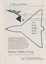 1952 Hawker Siddley Aviation Ad Avro 707 Delta Wing Design Jet Fighter England