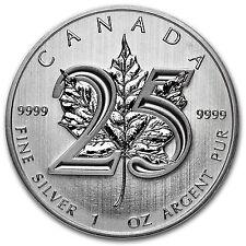 2013 Canada 1 oz Silver Maple Leaf BU (25th Anniv) - SKU #79602