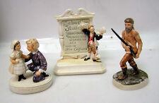 Lot of 3-Ceramic Figure-SEBASTIAN STUDIOS/MOUNTAIN MAN/LITTLE SISTER(M1204-ARRI)