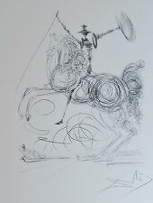 SALVADOR DALI Don Quichotte HAND NUMBERD 754/1200 PLATE SIGNED LITHO Don Quixote