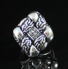 ART DECO COCKTAIL RING -SIZE8- AUSTRIAN RHINESTONE CRYSTAL GOLD PLATED R1216W