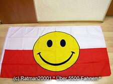 Fahnen Flagge Polen Smiley - 90 x 150 cm