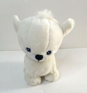 """Neopets White Doglefox Pet Pet 7"""" Plush Stuffed Animal 2002 EUC"""