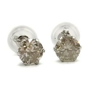 Jewelry Pierced Earring   Diamond 0.6ct Platinum 1813606