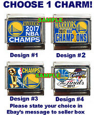 Golden State Warriors 2017 NBA Champions Custom Italian Charm, vs. Cleveland