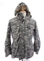 Golden Mfg M-65 Cold Weather Hood ACU Pattern Field Coat Jacket Sz Medium Short