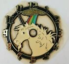 "Ramar Ind. Plastic Clock Face Unicorn 1983 Sticky Back 4"" Diameter Vintage"