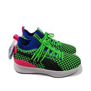 Puma Clyde Court Summertime Basketball Shoes 10 Mid Green Blue 192893 01 Mens