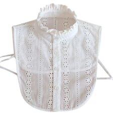 Women Cotton Detachable Lapel Shirt Fake False Collar Necklace Removable Choker