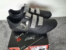Fizik R1 Kangaroo Leather Road Cycling Shoes Size 45.5 UK10.5 Road Carbon Fibre