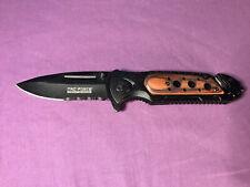 Tac-Force Speedster Model Tactical Pocket Folding Knife clip Black Brown Handle