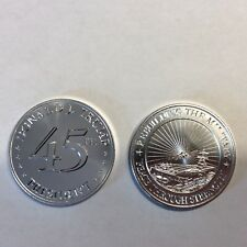 1oz .999 silver round Limited mintage TRUMP 45 Rebuilding the Military
