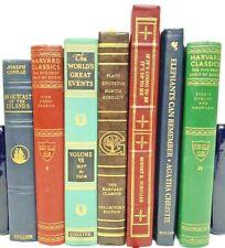 *6 Classics* Vintage Leather bound~Harvard-Franklin - Decor Books*Random Mix*