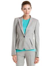 NWT $495 wool Rachel Roy career light gray jacket blazer pleated peplum 8 M