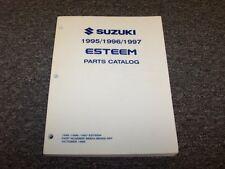 1995 1996 1997 Suzuki Esteem Sedan Original Parts Catalog Manual GL GLX 1.6L