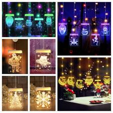 Xmas Christmas Moon Star LED Hanging Light Fairy String Window Decor Party Gift