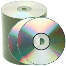 100 pcs 52X Silver Shiny Top Blank CD-R CDR Media Free Priority Mail Shipping