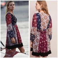 Anthropologie Maeve Quartier Latin Dress Woman Size XS New Velvet Lace