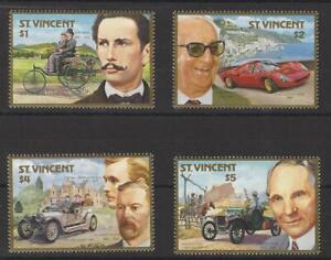 St. Vincent - Centenary of Motoring 1987 Set of 4 MNH (SG 1085-1089)