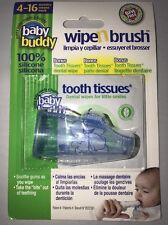 Baby Buddy Wipe N Brush 100% Silicone Toothbrush & Tooth Wipe - Blue