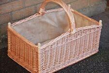 Large  Wicker Log Basket - HANDMADE
