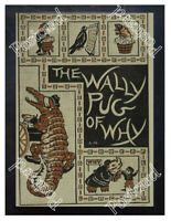 Historic The Wally Pug Of Why 1896 book Advertising Postcard