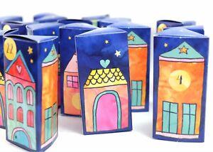 Adventskalender Geschenkboxen Häuser Geschenkboxen Dorf Häuschen