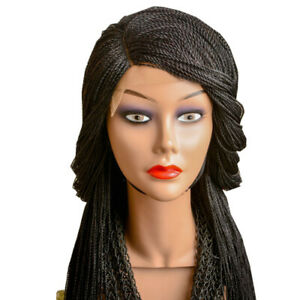 Micro twist Lace Front Braided Wig with Side Part (Right Side)