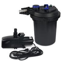 4000 Gal Pressure Pond Filter  Koi Fish 13W UV Sterilizer + 3200 GPH Pond Pump