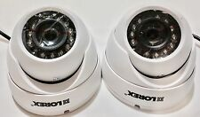 LOT OF 2 - LOREX LEV1522B Add-On 720p HD Dome Security Camera for Lhv100 Series