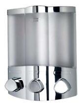 Chrome Triple Trio Soap Dispenser Shampoo Conditioner Stylish Modern Bathroom