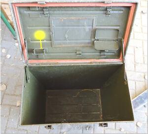 Transportkiste Metallkiste oliv für Dekontaminationsausrüstung ABC Ausstattung