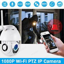 1080P WIFI IP Camera Wireless Outdoor CCTV PTZ Home Security IR Cam Night Vision