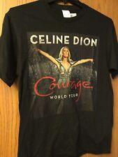 "Celine Dion - ""Courage"" World Tour Black Shirt.  NWT.  M."