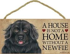 """A House is not a Home without a NEWFIE Dog Sign 5""""x10"""" NEW Wood Plaque USA S57"""
