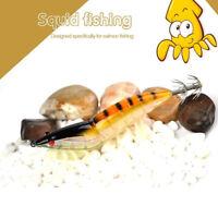 de pesca Gancho de calamar Pulpo de cebo Camarones de señuelos de madera