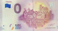 BILLET 0  EURO TRAKAI LITUANIE  2018  NUMERO 5000 DERNIER BILLET