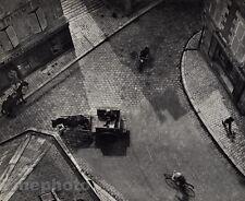 1930/72 Vintage ANDRE KERTESZ CARREFOUR Blois Street Horses Cityscape Art 11x14
