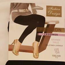 Ladies Thermal Leggings Warm Winter Cosy Fleece Lined Slimming  Black 10-16